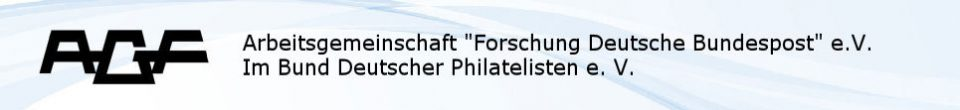"""AGF: Arbeitsgemeinschaft """"Forschung Deutsche Bundespost"""" e.V."""